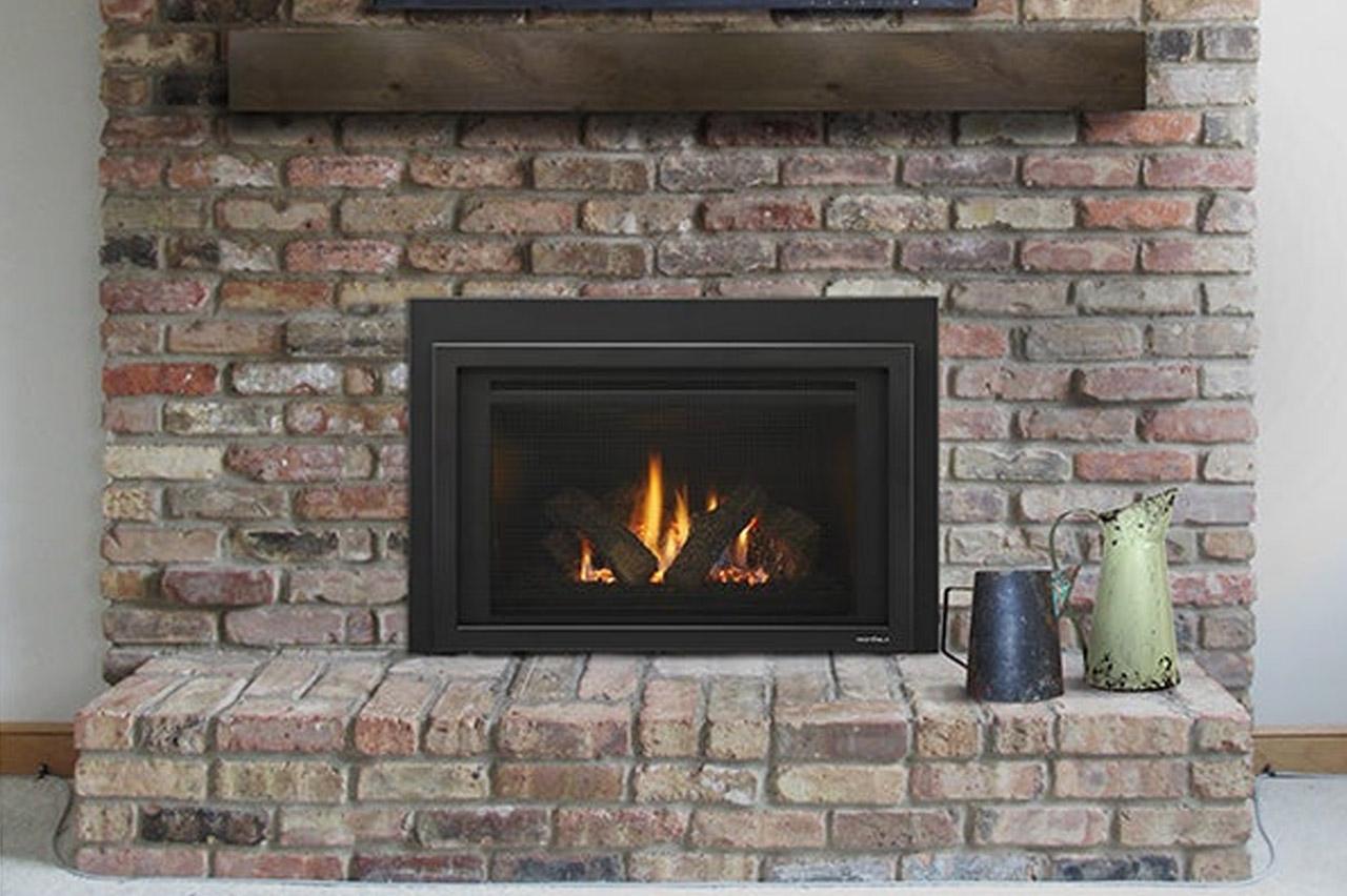 Fireplace up close after
