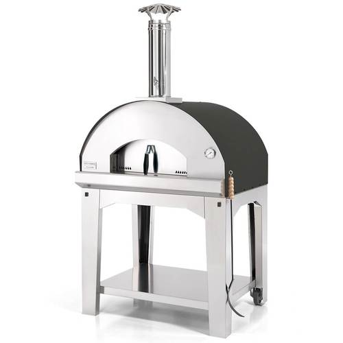 Fontana Forni Mangiafuoco Pizza Oven with Cart Anthracite