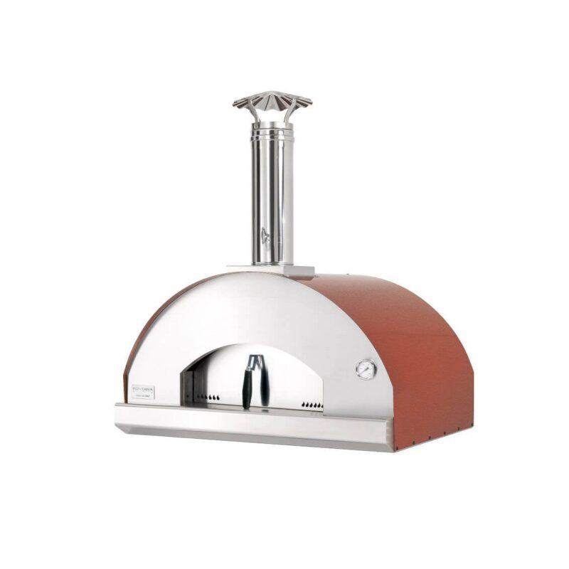 Fontana Forni mangiafuco countertop pizza oven red