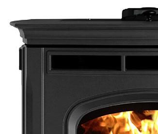 absolute43 pellet stove black finish