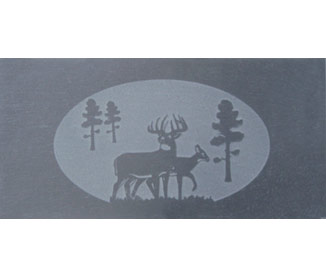 harman slate tile deer
