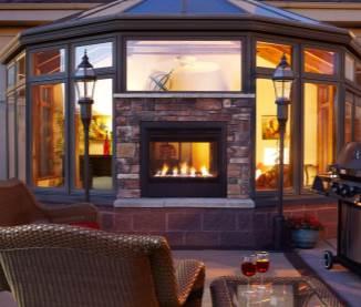 Outdoor Lifestyles Twilight Modern Gas Fireplace