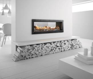 Heat & Glo MEZZO See-Through Gas Fireplace