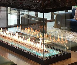 Heat & Glo Foundation Pier Gas Fireplaces