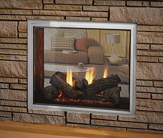 Outdoor Lifestyles Fortress See-Through Gas Fireplace