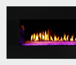 PRIMO See-Through Gas Fireplace Black Granite Surround