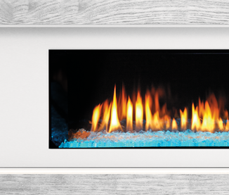 PRIMO See-Through Gas Fireplace Clean Face White