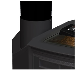 absolute43 pellet stove top vent adapter
