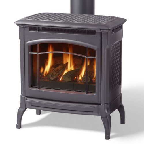 champlain black gas stove