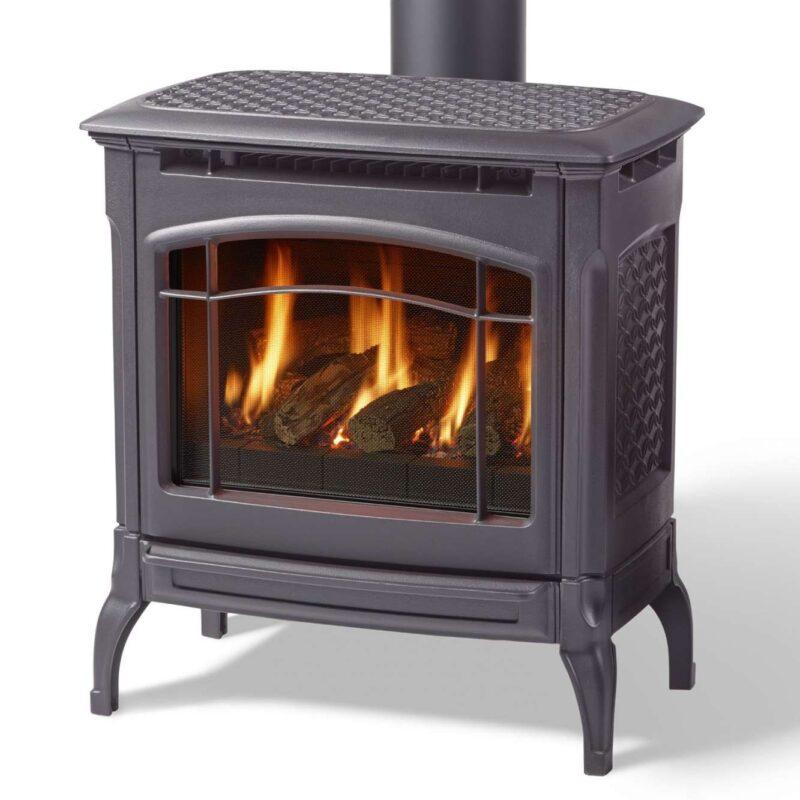 champlain black gas stove