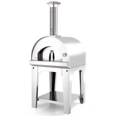 Fontana Forni Margherita Pizza Oven with Cart Stainless