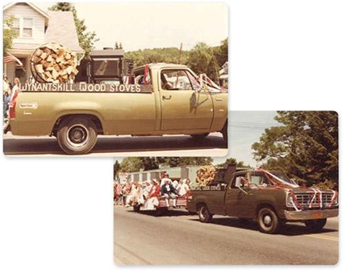 Wynantskill wood stoves in pickup trucks