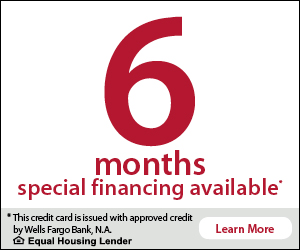 6 months special financing available